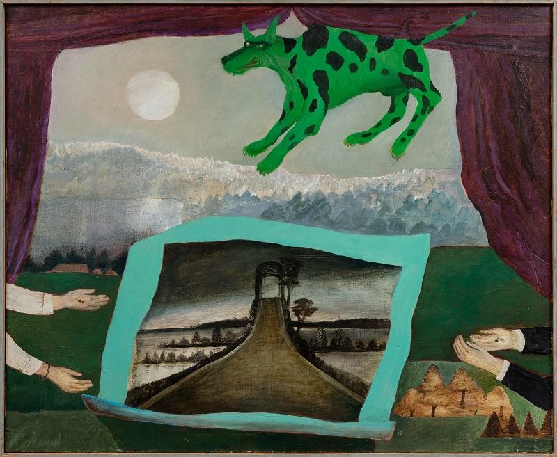 Maria Anto, Zahir, 1995, 90x110 cm, oil on canvas