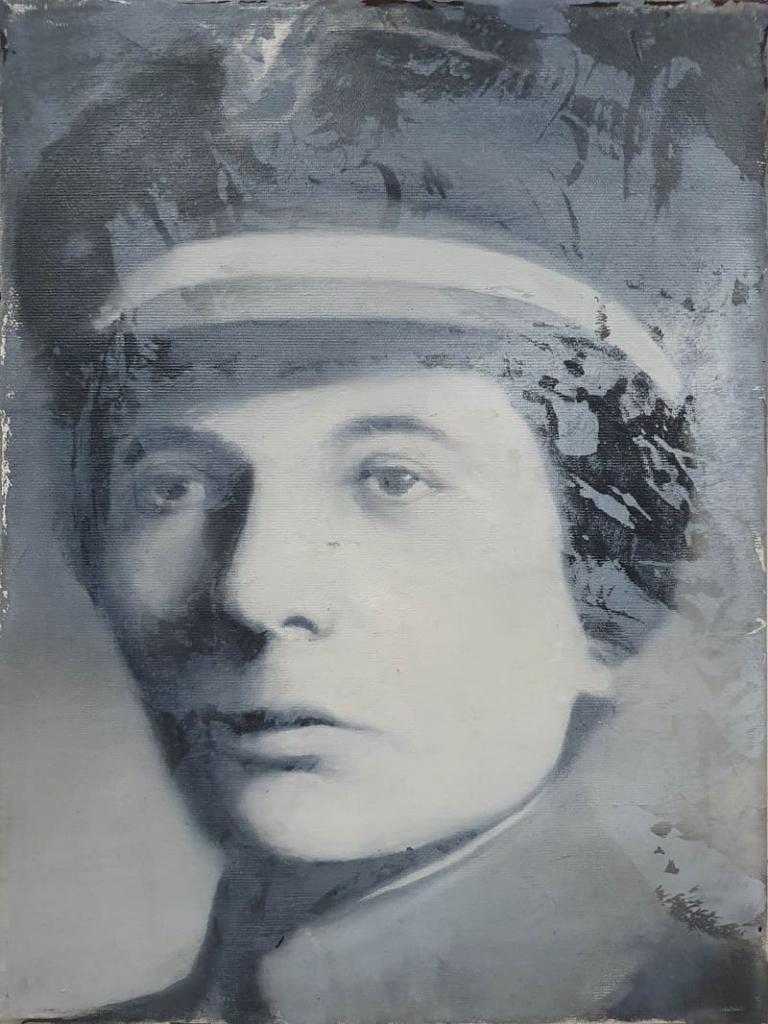 Aleksandra Zagórska, olej akryl na płótnie, 40x30cm, 2018-min