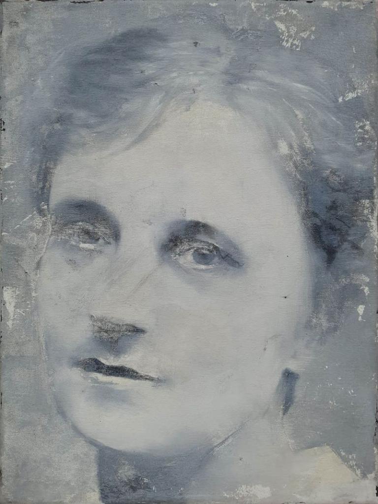 Irena Kosmowska, olej akryl na płótnie, 40x30cm, 2018-min