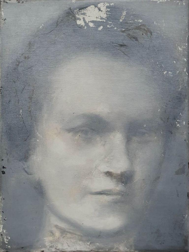 Wanda Krahelska, olej akryl na płótnie, 40x30cm, 2018-min