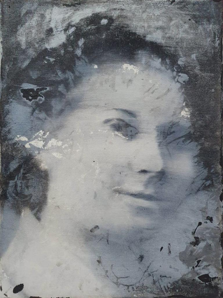 Zofia Sokolnicka, olej akryl na płótnie, 40x30cm, 2018-min